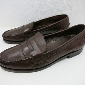 Cole Haan Oil Tanned Leather Strap Loafers 10.5 M